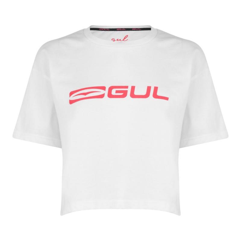 Gul Crop T Shirt Ladies White