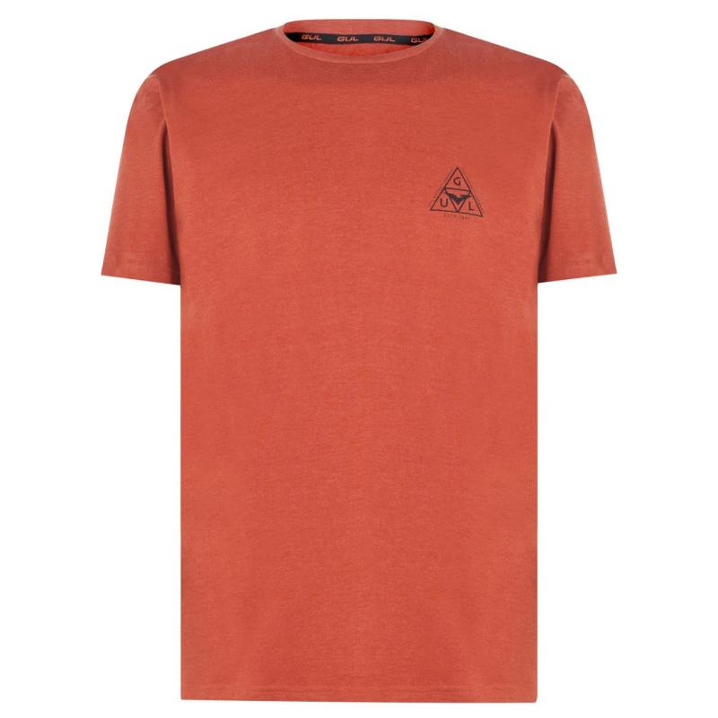 Tričko Gul Logo T Shirt Mens Burnt Orange