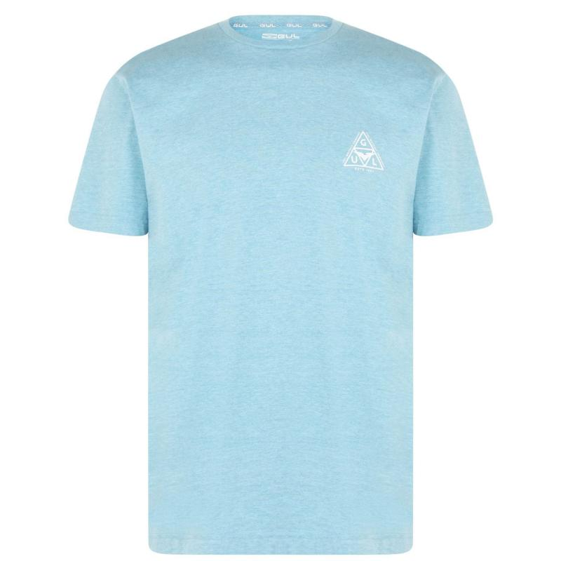 Tričko Gul Logo T Shirt Mens Turq Marl
