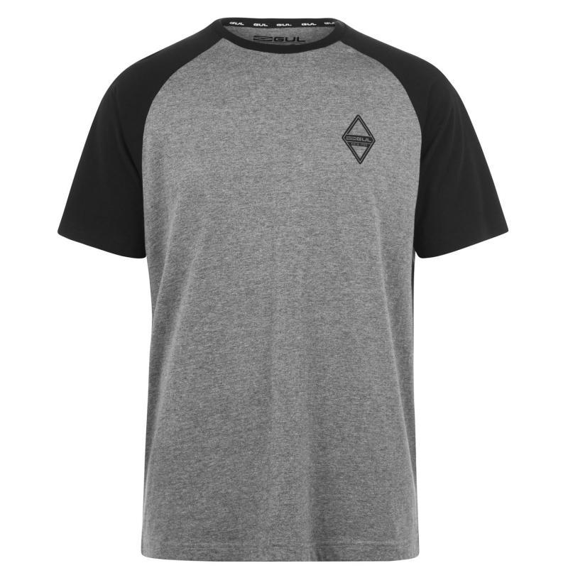 Tričko Gul Logo T Shirt Mens Rag Grey Marl