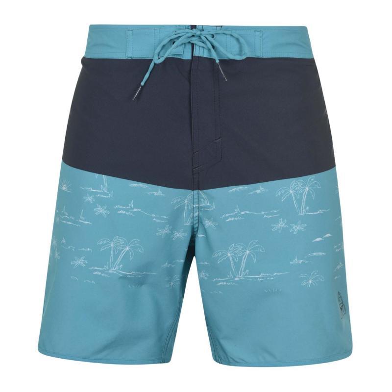 Plavky Gul Retro Board Shorts Mens Blue/Grey