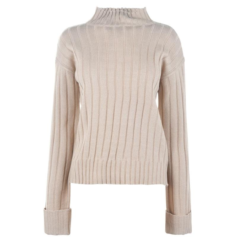 Svetr Kangol Turtle Neck Jumper Ladies Stone