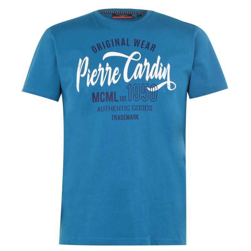 Tričko Pierre Cardin Original Wear T Shirt Mens Teal