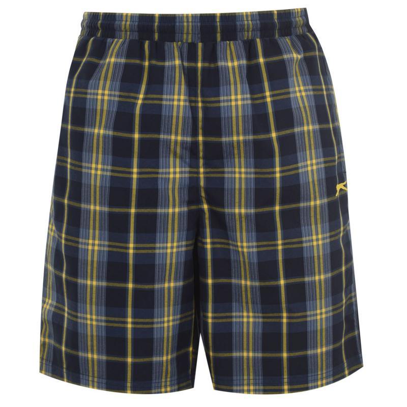 Slazenger Graphic Shorts Mens Navy/Yellow