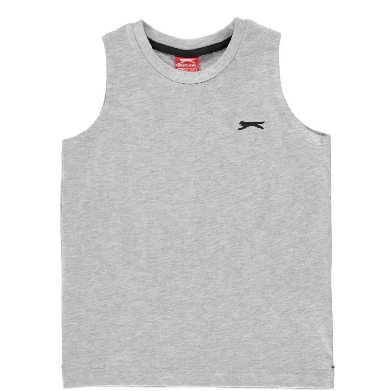 Tílko Slazenger Sleeveless T Shirt Infant Boys Grey Marl