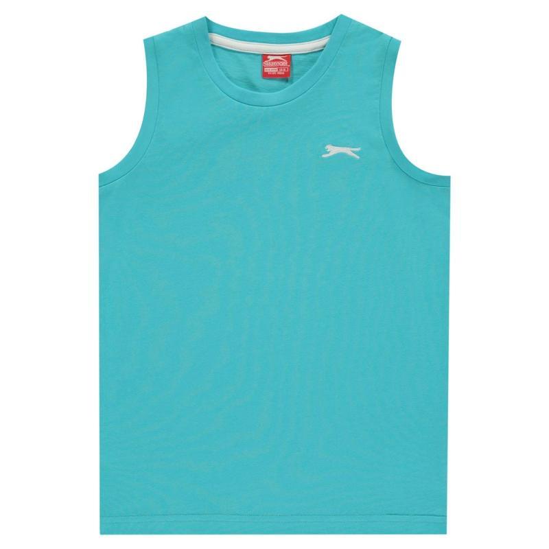 Tílko Slazenger Sleeveless T-Shirt Junior Boys Bright Blue