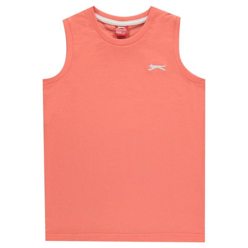 Tílko Slazenger Sleeveless T-Shirt Junior Boys Coral