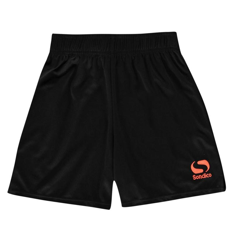 Kraťasy Sondico Core Football Shorts Junior Black/FluOrange