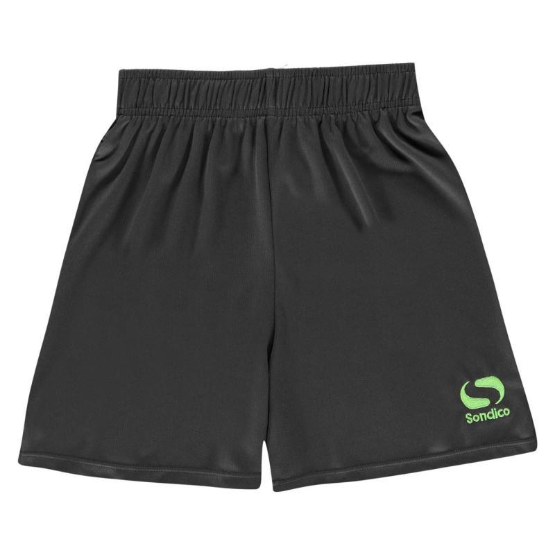 Kraťasy Sondico Core Football Shorts Junior Charc/FluGreen