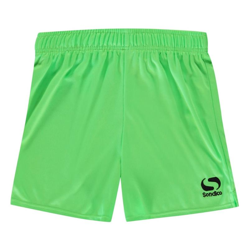 Kraťasy Sondico Core Football Shorts Junior FluGreen/Black