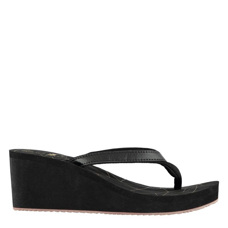 Boty SoulCal Eva Wedge Sandals Ladies Black