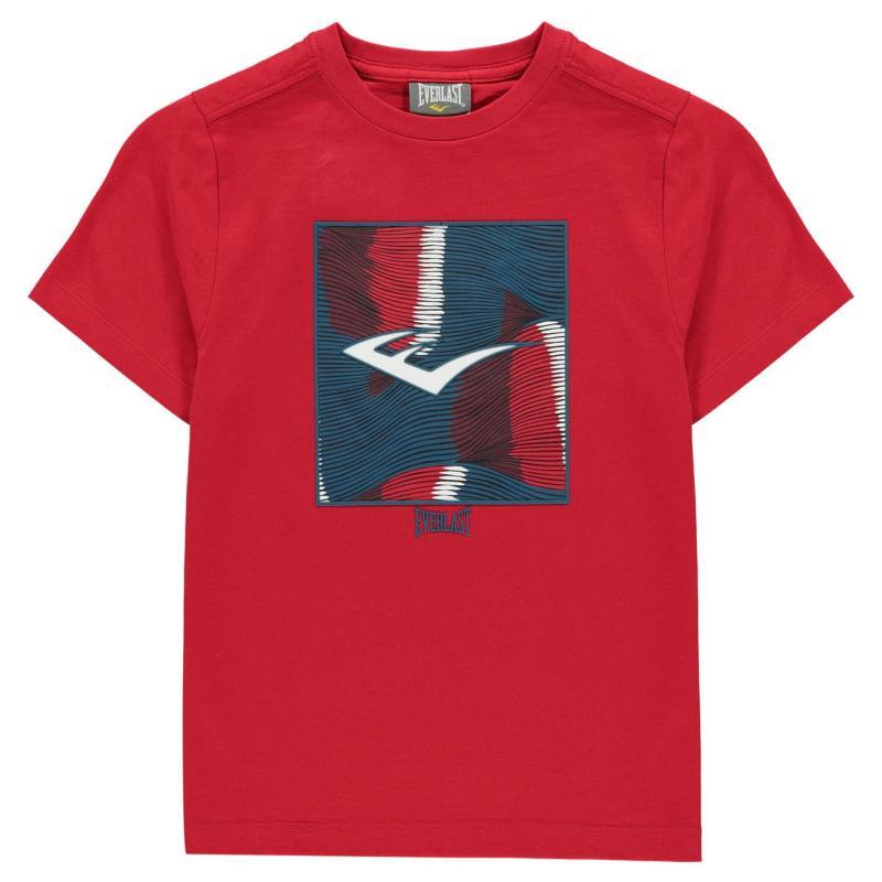 Tričko Everlast Graphic Logo T-Shirt Junior Boys Red E Box