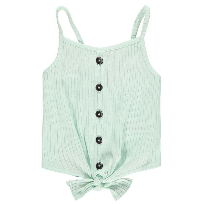 Firetrap Button Vest Top Junior Girls Minty