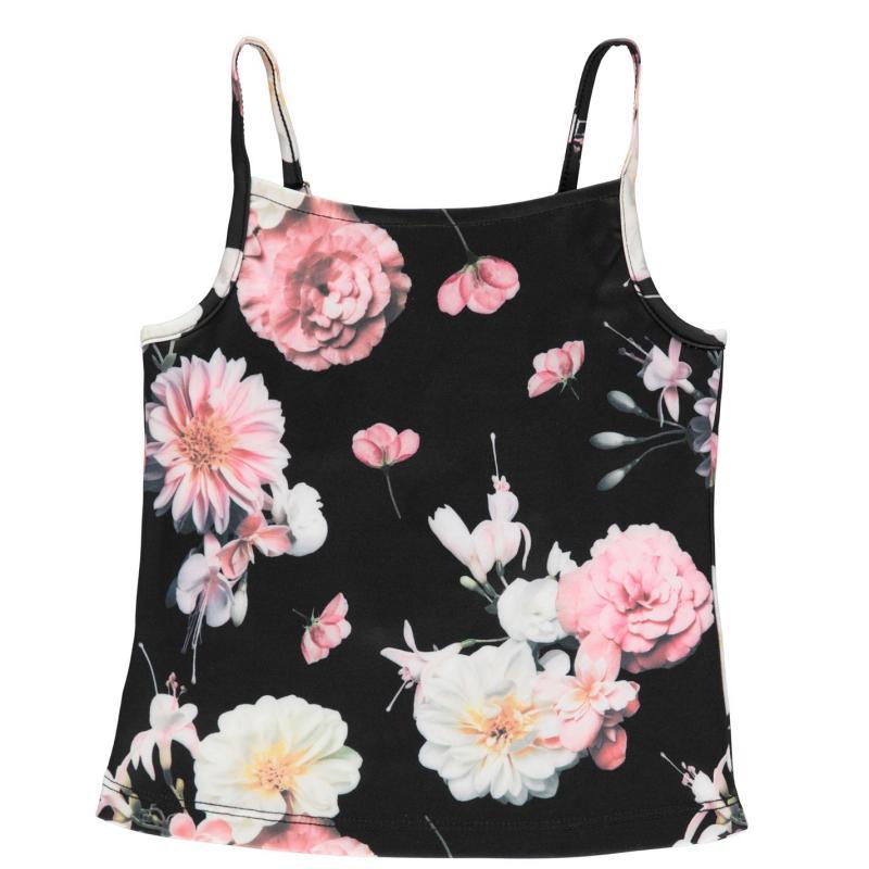 Firetrap Cami Vest Junior Girls Midnight Floral
