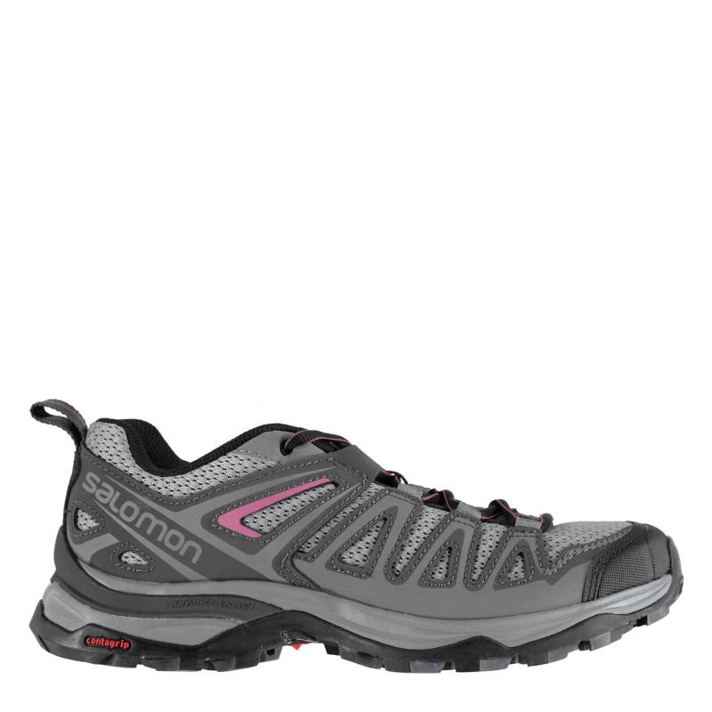 Boty Salomon XUltra 3 Prime Ladies Walking Shoes Alloy/Ebony