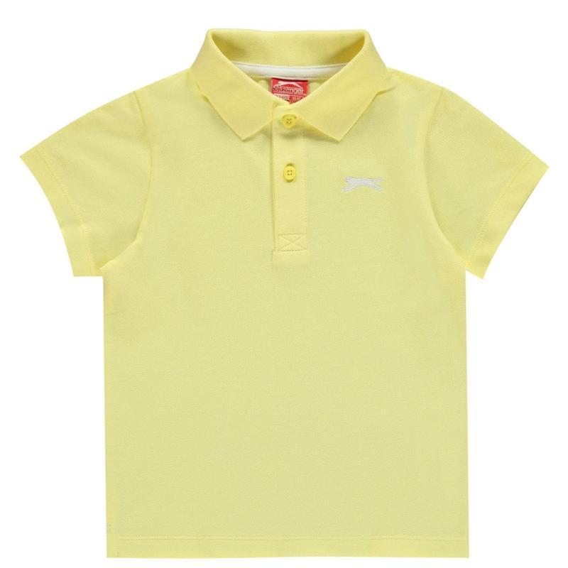 Slazenger Plain Polo Shirt Infant Boys Yellow