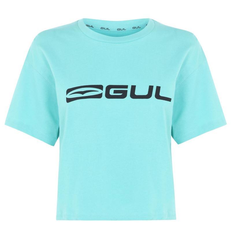 Gul Crop T Shirt Ladies Teal