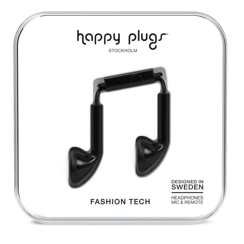 Happy Plugs Earbud Headphones Black