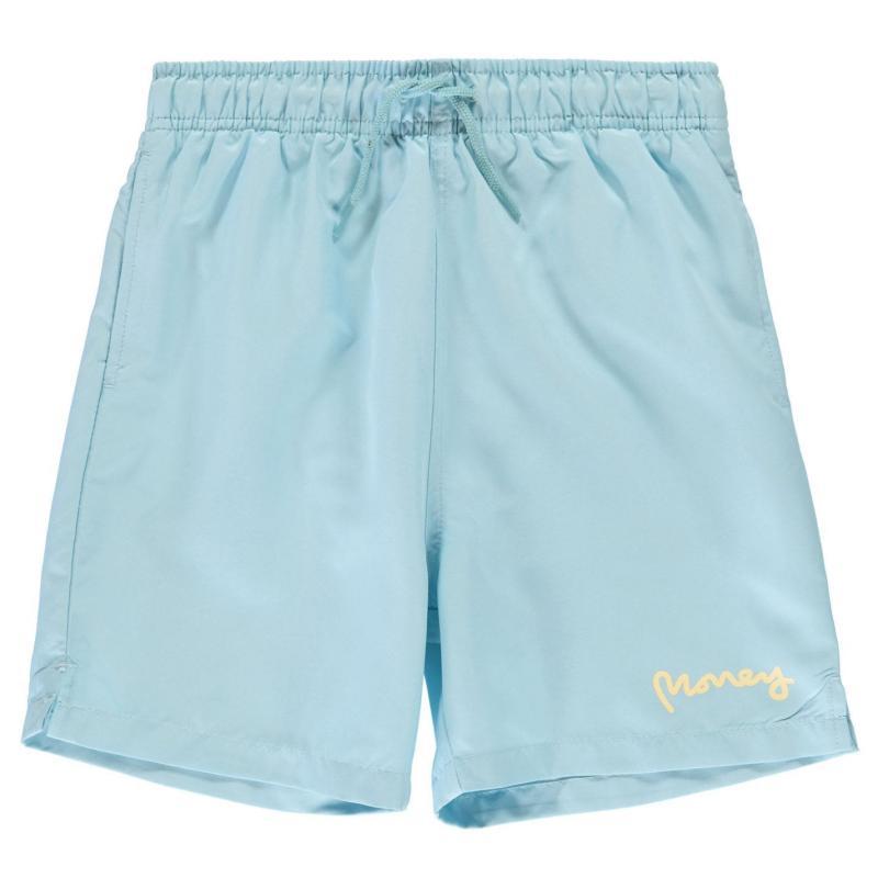 Plavky Money Logo Swim Shorts Sky Blue