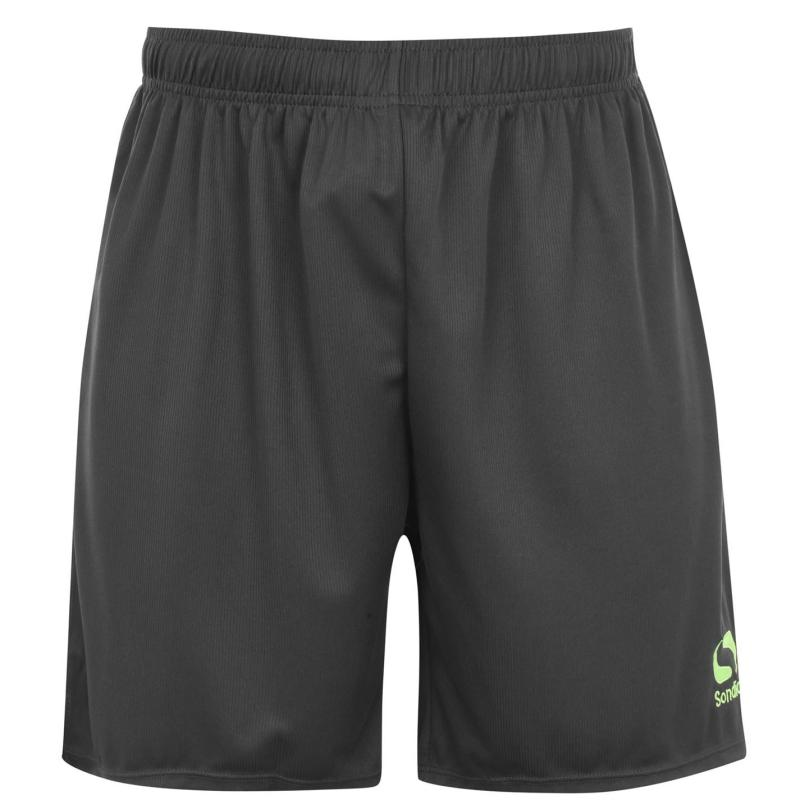 Sondico Core Football Shorts Mens Charc/FluGreen