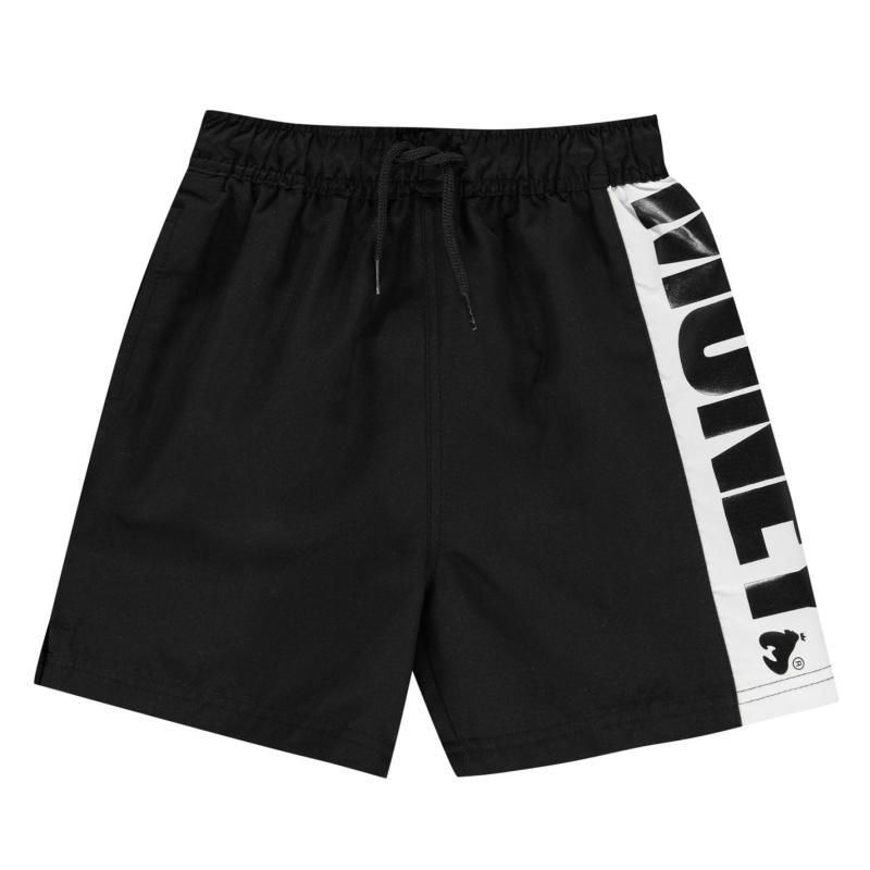 Plavky Money Logo Swim Shorts Black
