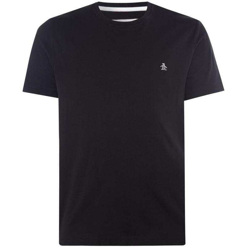 Tričko Original Penguin Short Sleeve Crew Neck T Shirt Black