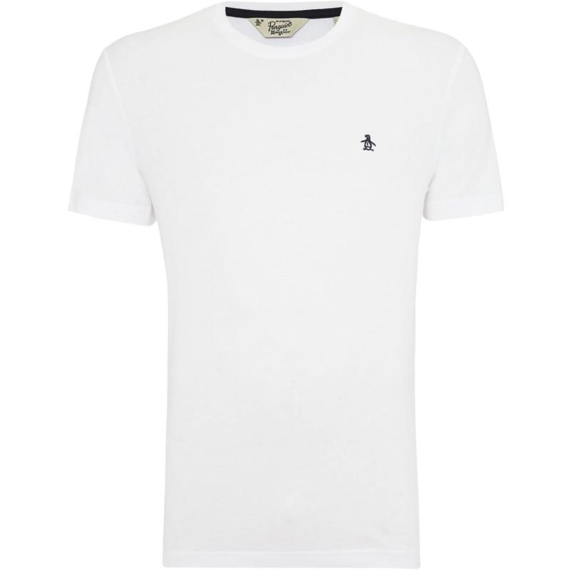 Tričko Original Penguin Short Sleeve Crew Neck T Shirt White