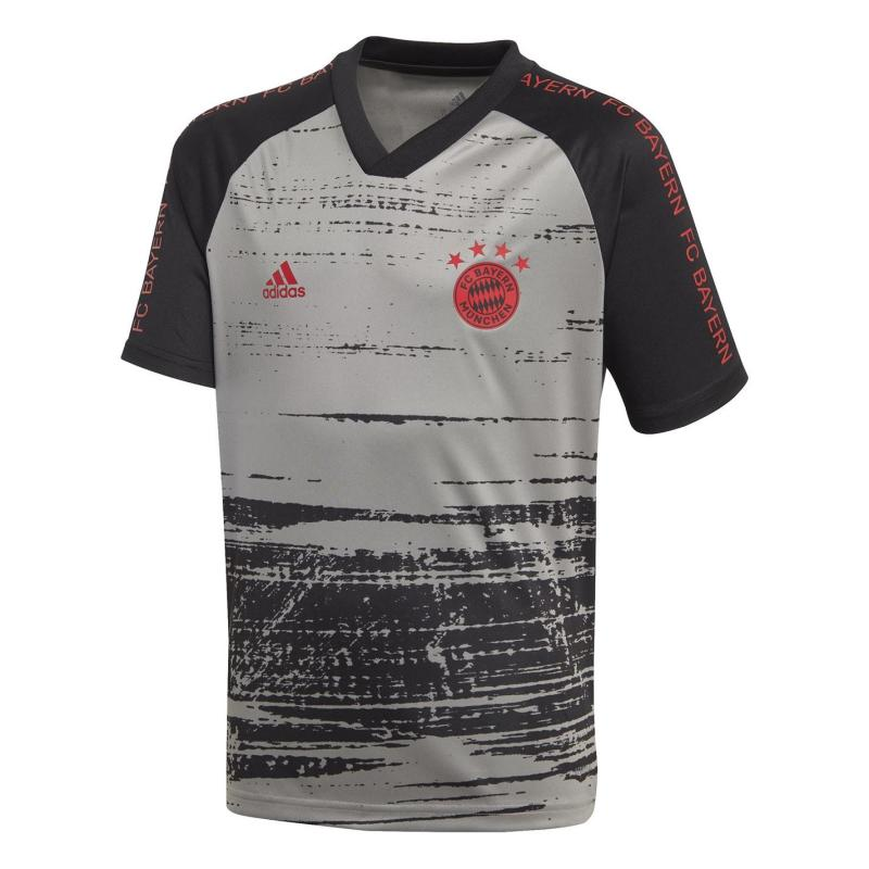 Adidas Bayern Munich Pre Match Shirt 2020 2021 Junior Grey/Black