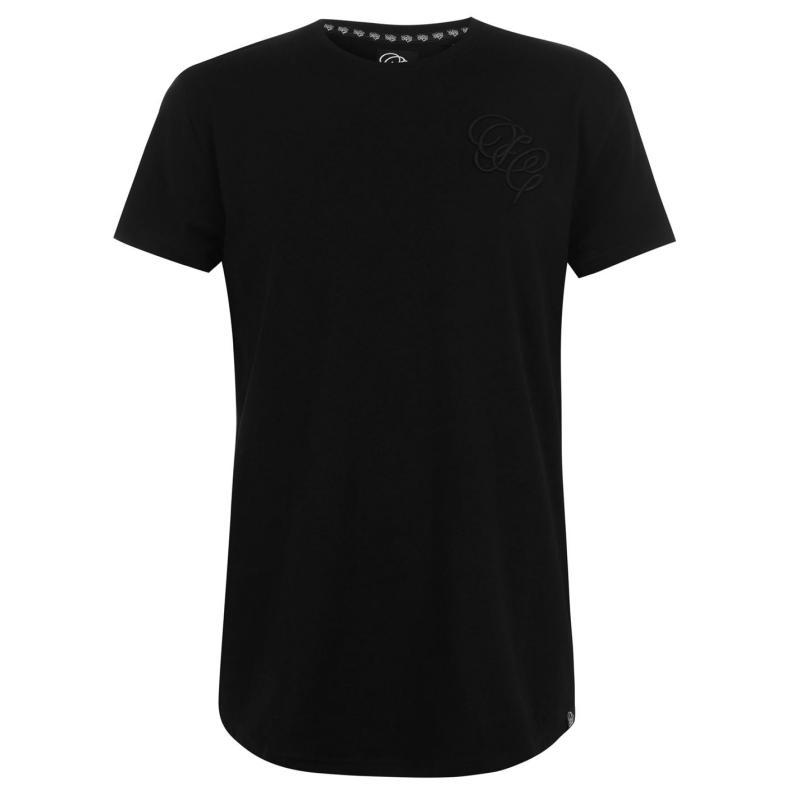 Tričko Fabric Embroidered T Shirt Mens Black