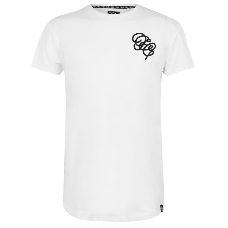 Tričko Fabric Embroidered T Shirt Mens White