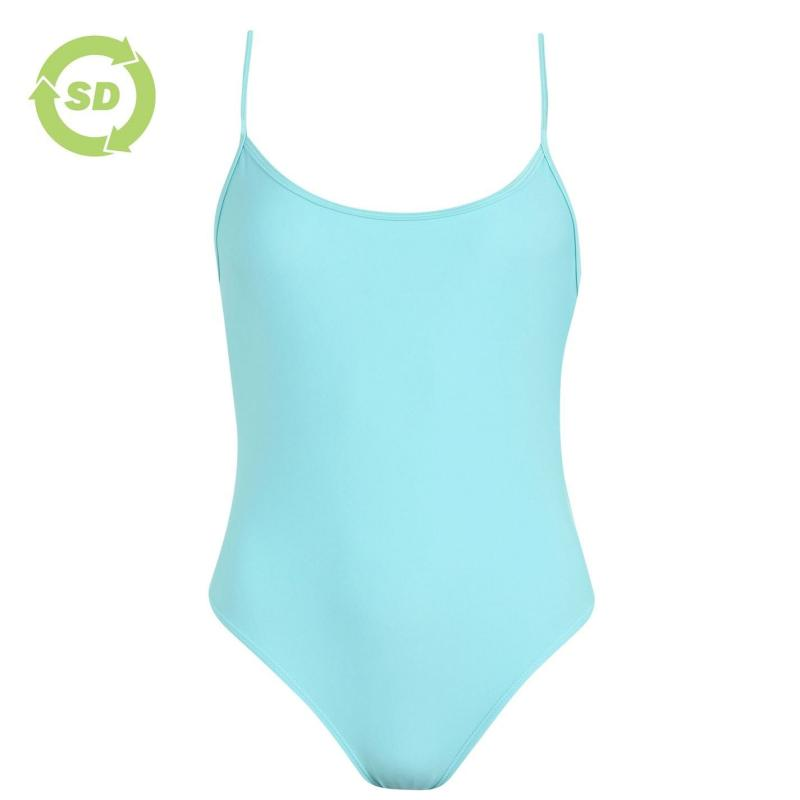 Plavky SoulCal Low Back Swimsuit Teal