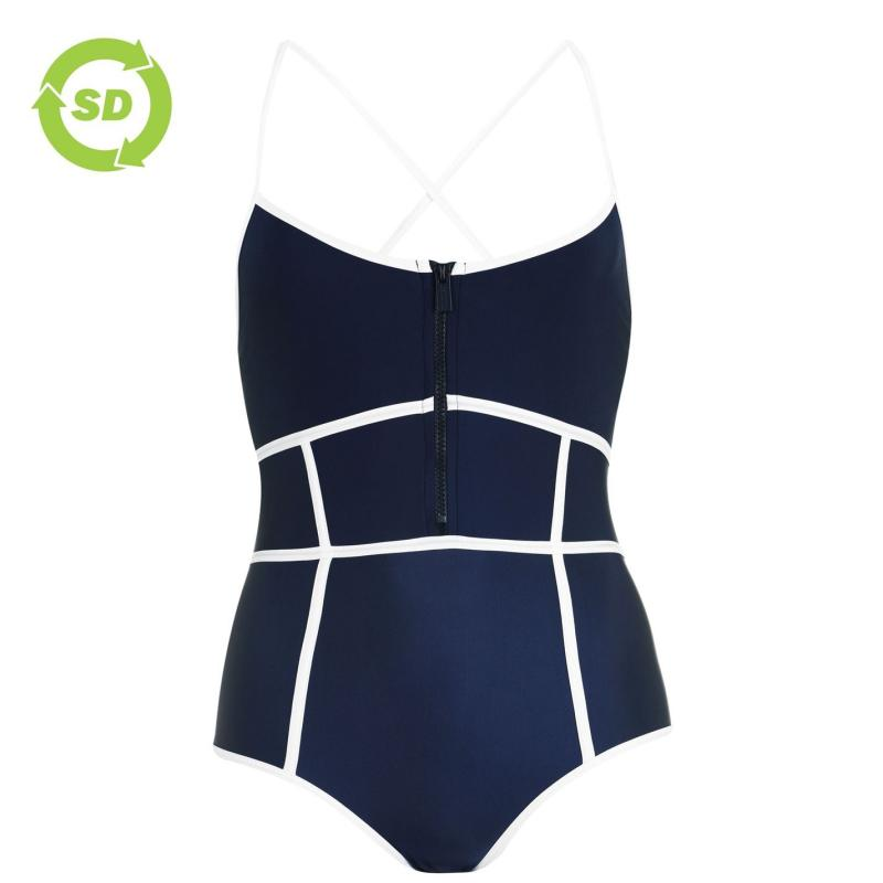 Plavky SoulCal Panelled Swimsuit Navy