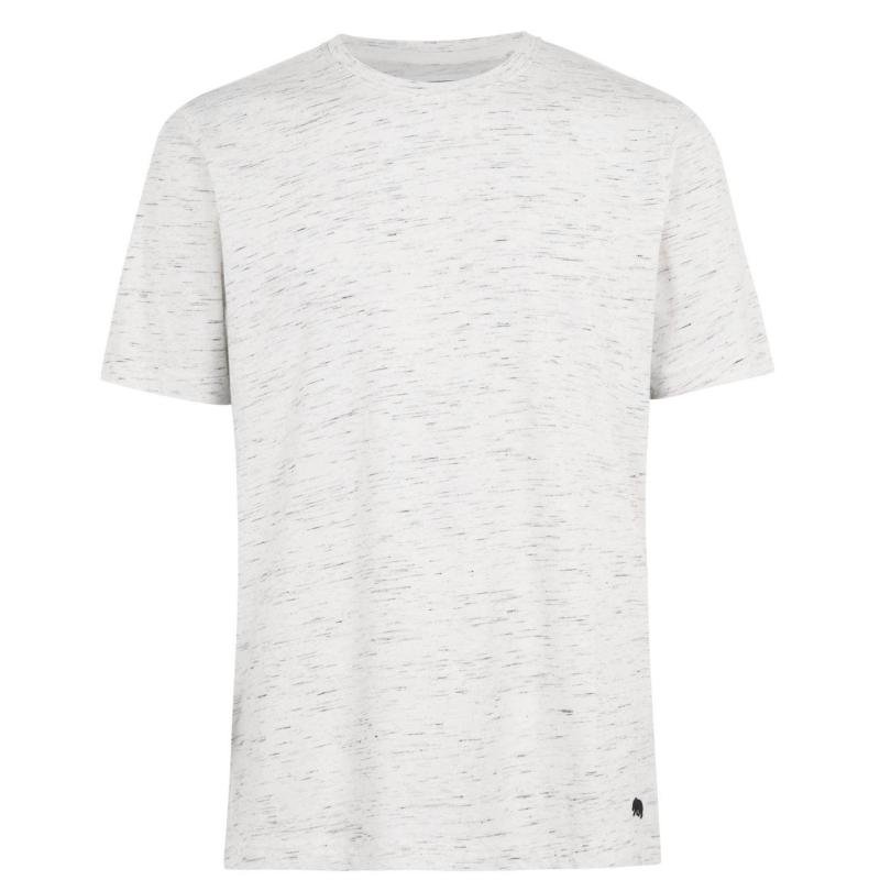 Tričko SoulCal Plain T Shirt Mens Ecru Space