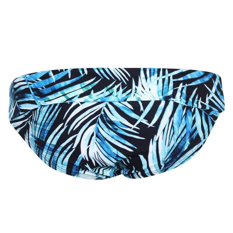 Plavky SoulCal Tankini Bottoms Black Palm Prnt