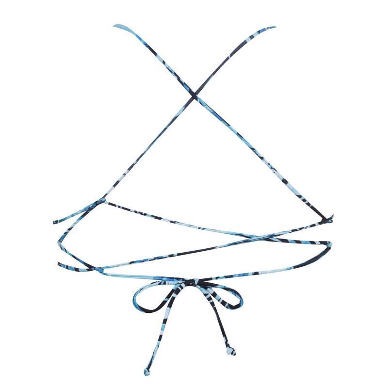 Plavky SoulCal Tie Back Bikini Top Black Palm Prnt