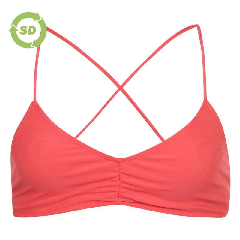 Plavky SoulCal Tie Back Bikini Top Red