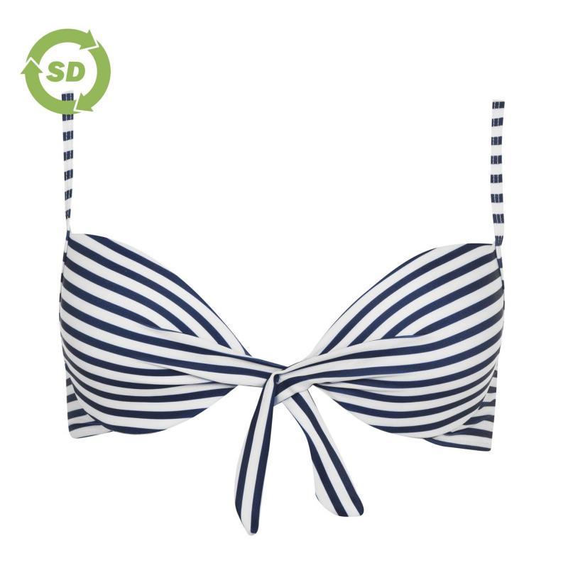 Plavky SoulCal Tie Bikini Top Navy Stripe