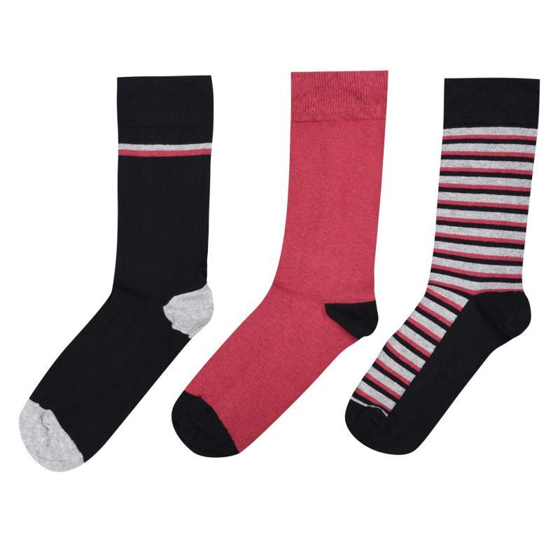 Ponožky Firetrap 3 Pack Dress Sock Size 7-11 Senior Wine