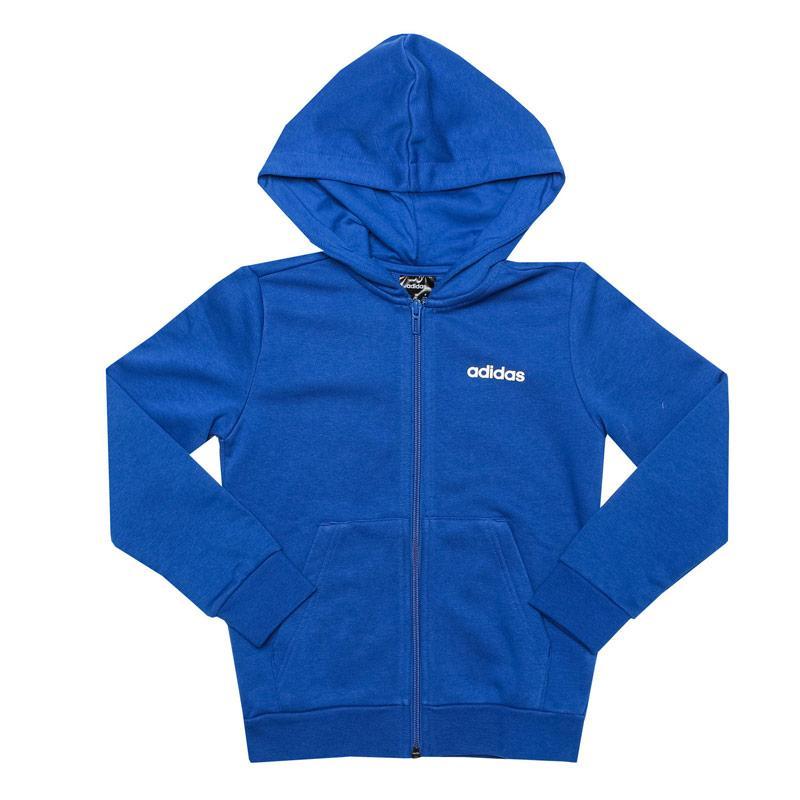 Mikina Adidas Junior Boys Essentials Linear Zip Hoody Blue