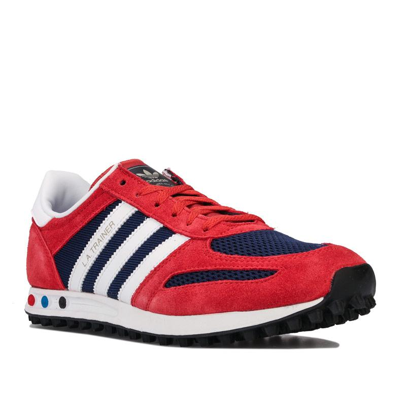 Boty Adidas Originals Junior Boys LA Trainers Red