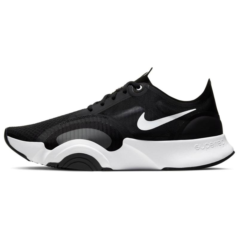 Nike Super Go Trainers Mens BLACK/WHITE-DK SMOKE GREY