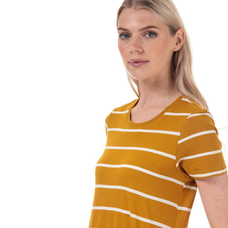 Šaty Only Womens May Life A-Line Stripe Dress Mustard