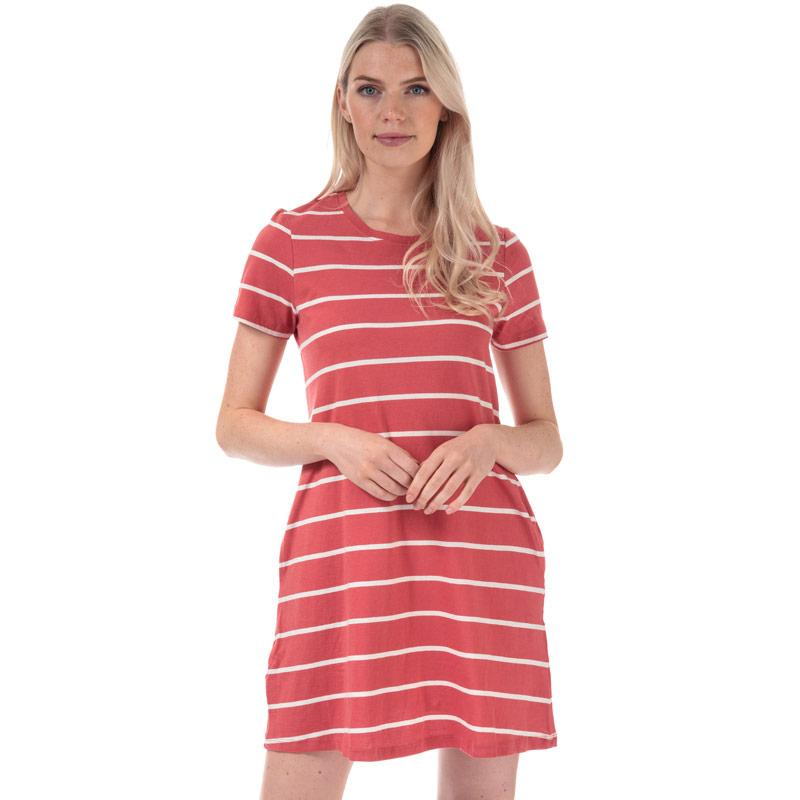 Šaty Only Womens May Life A-Line Stripe Dress red white