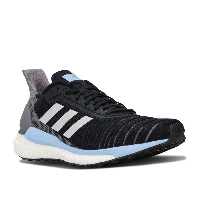Adidas Womens Solar Glide 19 Running Shoes black blue