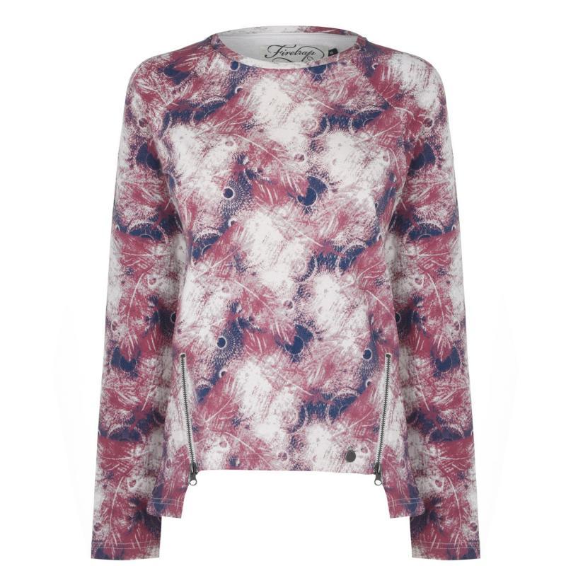 Mikina Firetrap Zip Front Sweater Womens Multi