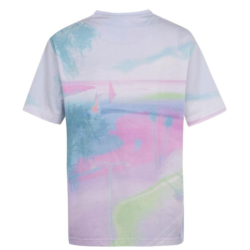 Tričko Hot Tuna Oversized T Shirt Mens Tie Dye