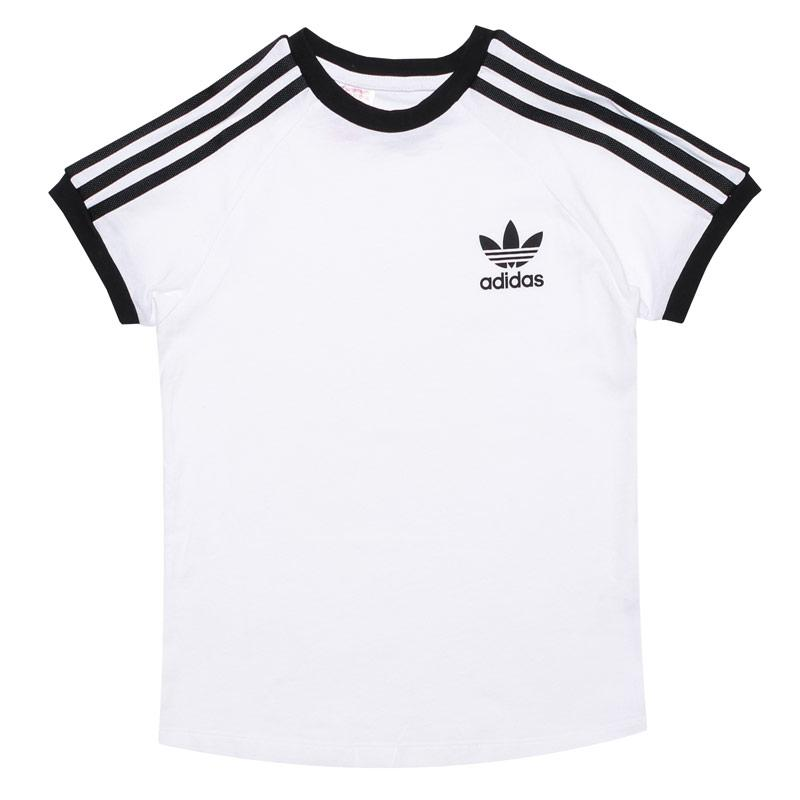 Tričko Adidas Originals Junior Boys 3-Stripes T-Shirt White Black
