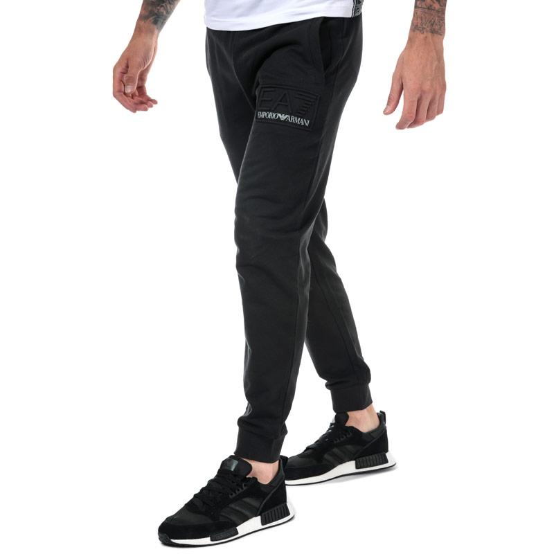 Tepláky Emporio Armani EA7 Mens Embossed Logo Jog Pants Black