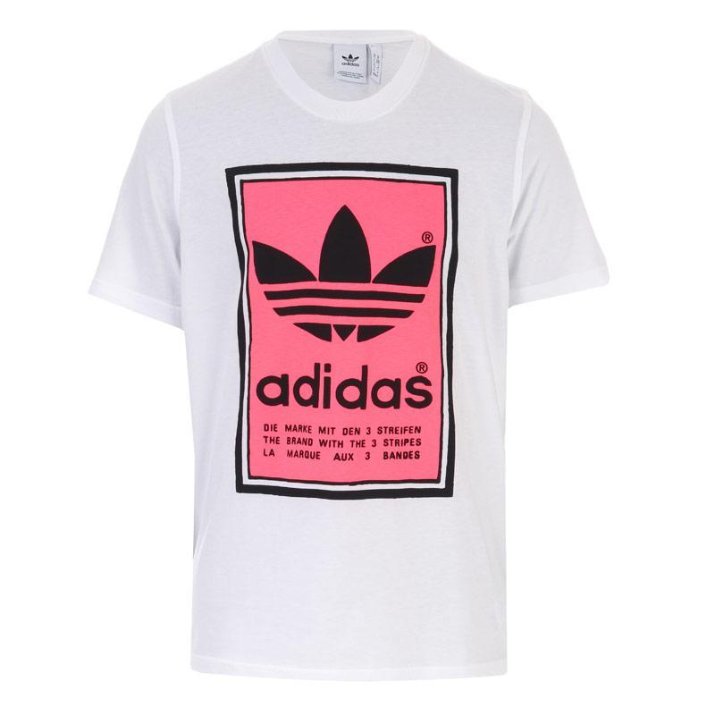 Tričko Adidas Originals Mens Filled Label T-Shirt White red