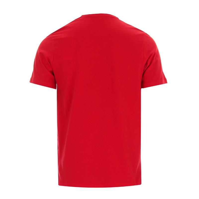 Tričko Jack Jones Mens Jay Crew Logo Crew T-Shirt Red